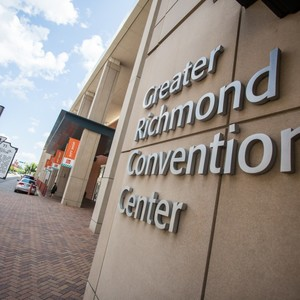 Image of the side of the Greater Richmond Convention Center