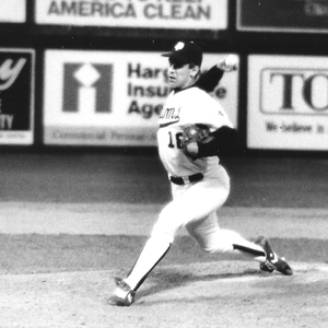 Jerry Dipoto throws a pitch for VCU in the late 1980s.
