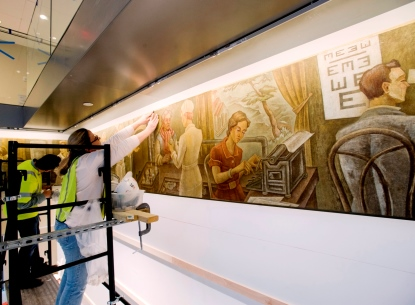 Restored Medical Murals Featured in McGlothlin Building