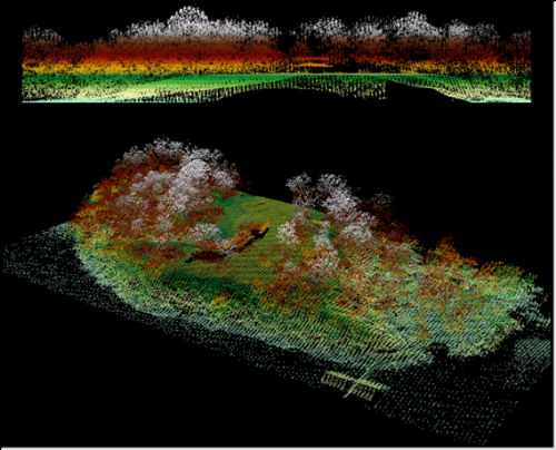 Images created using LiDAR technology.